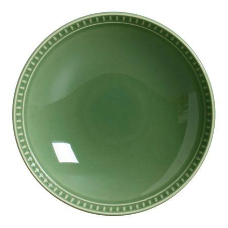 Conjunto de 06 Pratos Fundos Sevilha Verde Sálvia