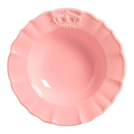 Conjunto de 06 Pratos Fundos Windsor Rosa