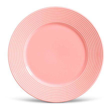 Conjunto de 06 Pratos Rasos Argos Rosa