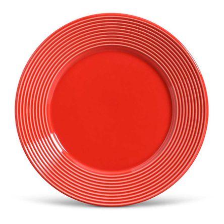 Conjunto de 06 Pratos Rasos Argos Vermelho