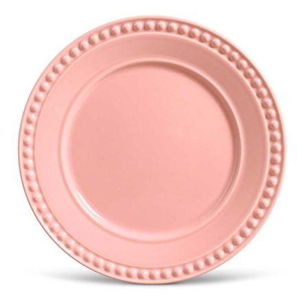 Conjunto de 06 Pratos Rasos Atenas Rosa