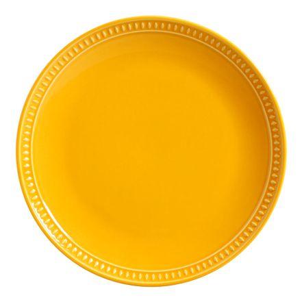 Conjunto de 06 Pratos Rasos Sevilha Mostarda