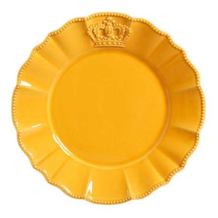 Conjunto de 06 Pratos Rasos Windsor Mostarda