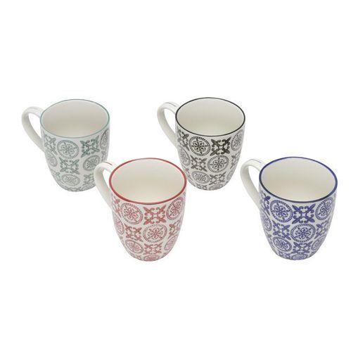 Conjunto de 4 Canecas de Porcelana 300ml Royal 6745 Lyor