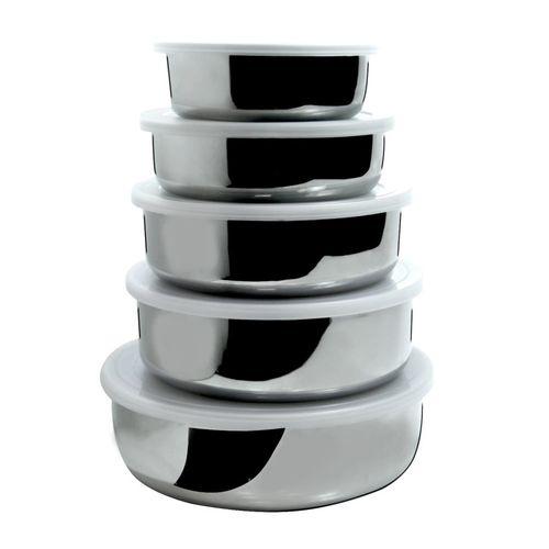 Conjunto de 5 Potes em Aço Inox Gourmet Mix