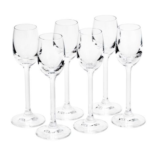 Conjunto de 6 Taças para Licor em Vidro 60ml Gastro Bohemia