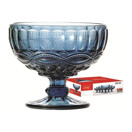 Conjunto de 6 Taças para Sobremesa 310ml Azul 489 Class