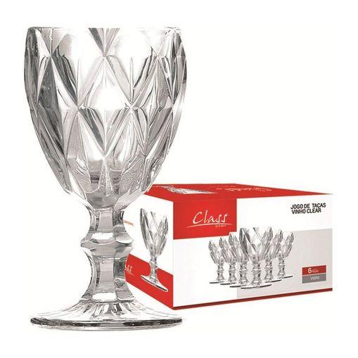 Conjunto de 6 Taças para Vinho 210ml Transparente 455 Class