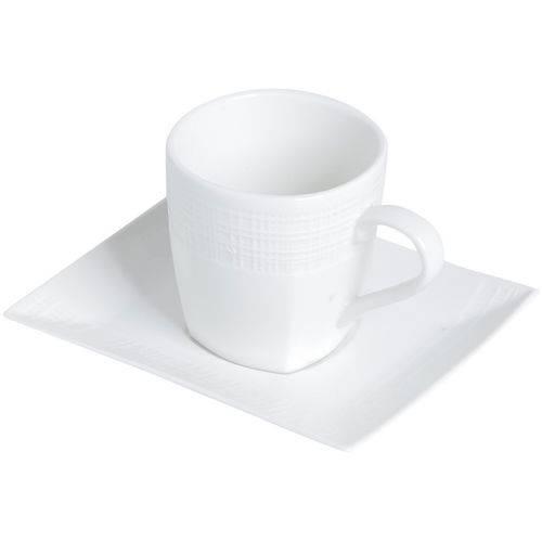 Conjunto de 6 Xícaras para Chá em Porcelana Branca 200ml Square 8171 Lyor