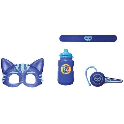 Conjunto de Acessórios - PJ Masks - Máscara e Acessórios - Menino Gato - Candide