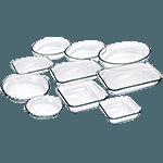 Conjunto de Assadeiras de Vidro 10 Peças - Marinex