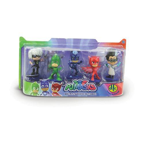 Conjunto de Bonecos Pj Masks 7cm Heróis de Pijama Dtc