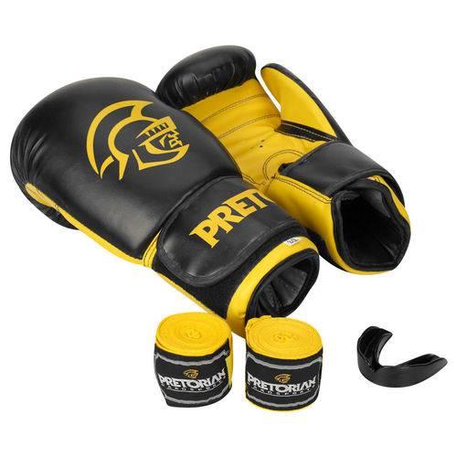 Conjunto de Boxe/Muay Thai First 14oz Preto