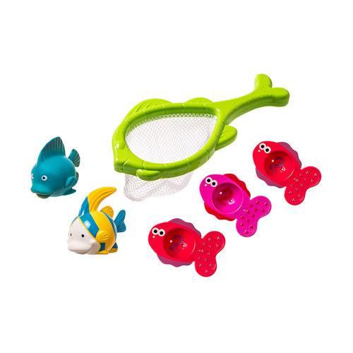 Conjunto de Brinquedos para Banho - 6 Peças - Pescaria no Banho - Girotondo Baby