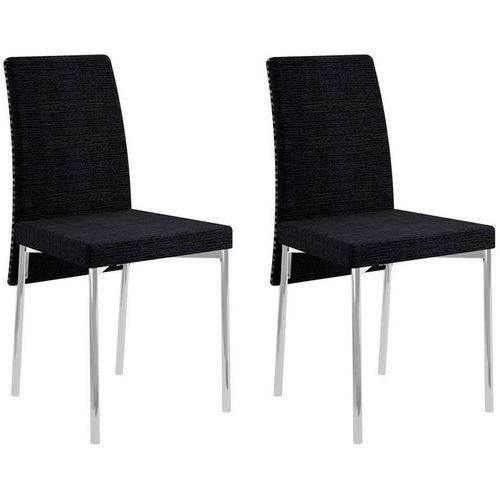 Conjunto de 2 Cadeiras 306 – Carraro - Preto
