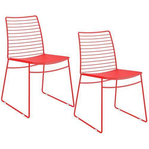 Conjunto de 2 Cadeiras 1712 – Carraro - Vermelho Real