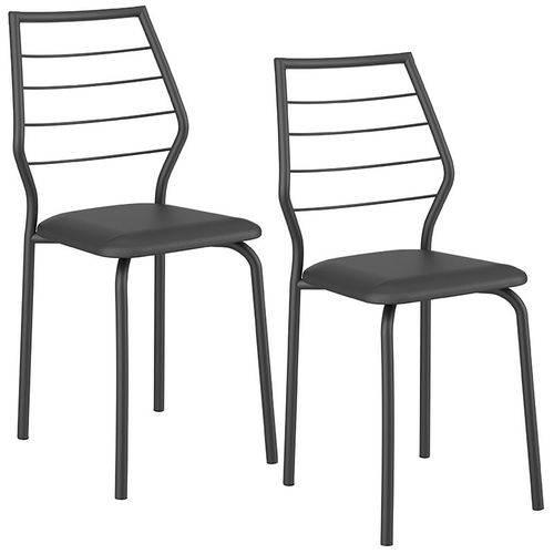 Conjunto de 2 Cadeiras 1716 – Carraro - Preto
