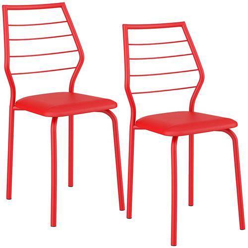 Conjunto de 2 Cadeiras 1716 – Carraro - Vermelho Real