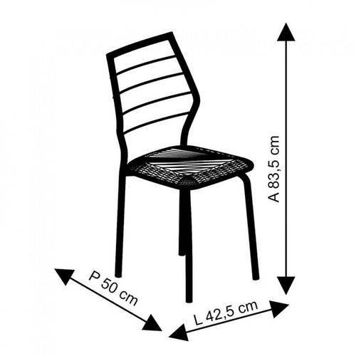 Conjunto de 2 Cadeiras 1716 Cromado – Carraro - Turquesa