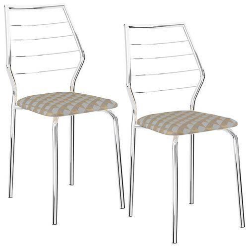 Conjunto de 2 Cadeiras 1716 Retrô – Carraro - Retrô Metalizado
