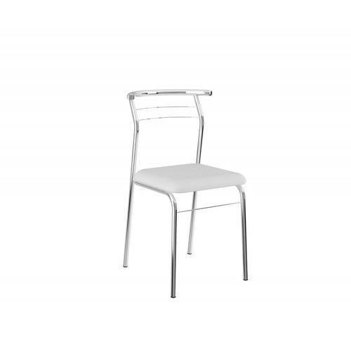 Conjunto de 2 Cadeiras Branco e Cromado
