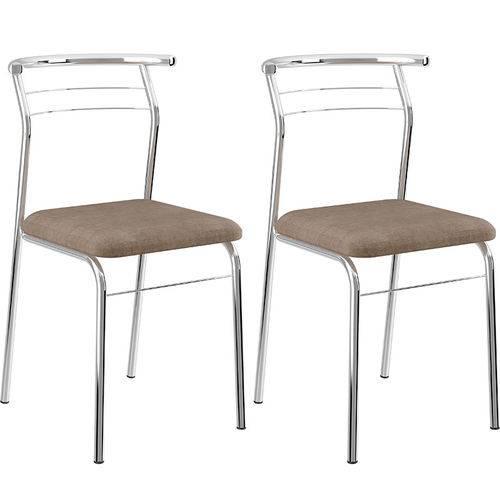 Conjunto de 2 Cadeiras Camurça 1708 – Carraro - Conhaque