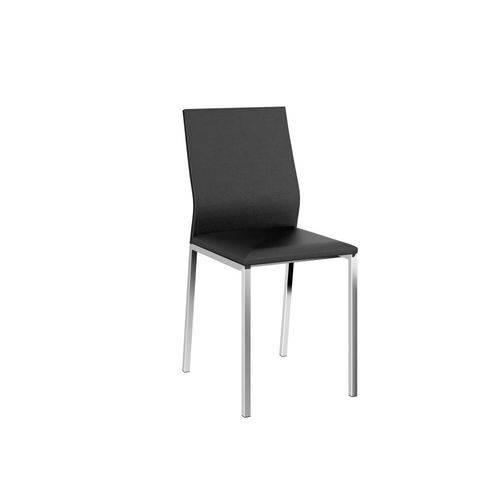 Conjunto de 2 Cadeiras Courissimo com Encosto Preto e Cromado
