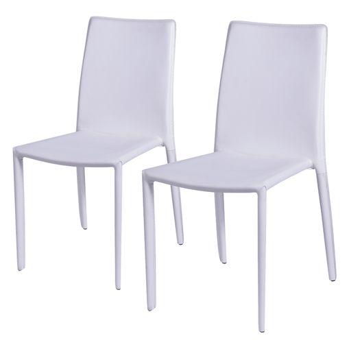 Conjunto de 2 Cadeiras de Jantar Branca Alba ÓR Design