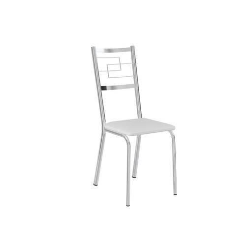 Conjunto de 2 Cadeiras em Aço Cromado Napa Branco