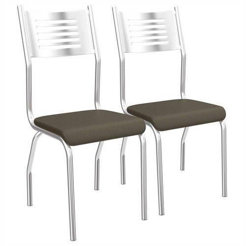 Conjunto de Cadeiras Munique Cromadas 2 Peças C047 Kappesberg