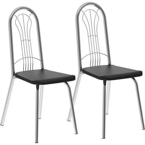 Conjunto de 2 Cadeiras Napa 182 – Carraro - Preto Cromado