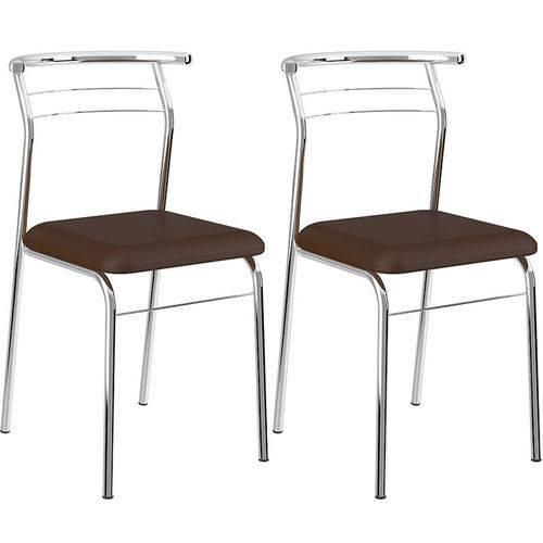 Conjunto de 2 Cadeiras Napa Cromado 1708 – Carraro - Cacau