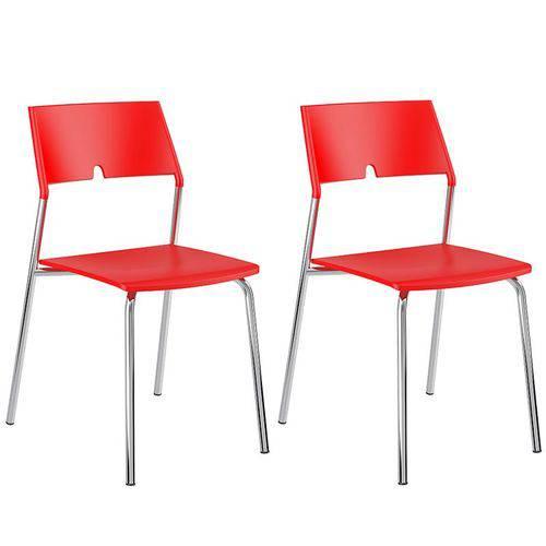 Conjunto de 2 Cadeiras Polipropileno 1711 – Carraro - Vermelho