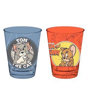 Conjunto de Copos Tom e Jerry Gato e Rato - 2 Pecas