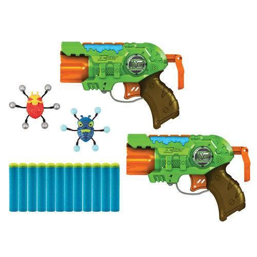 Conjunto de Lançadores de Dardos - X-shot - Bug Attack - Double Predator - Candide
