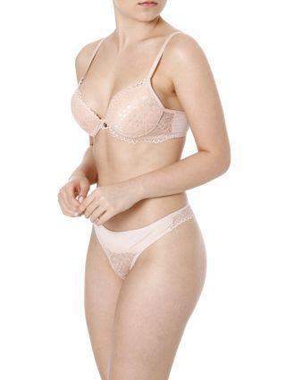 Conjunto de Lingerie Feminino Nude