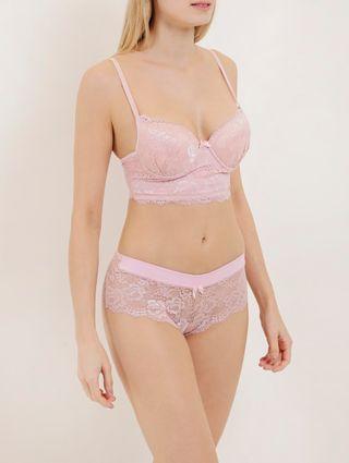Conjunto de Lingerie Feminino Rosa