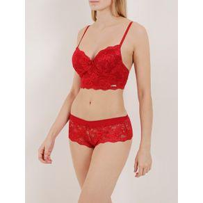 Conjunto de Lingerie Feminino Vermelho 40