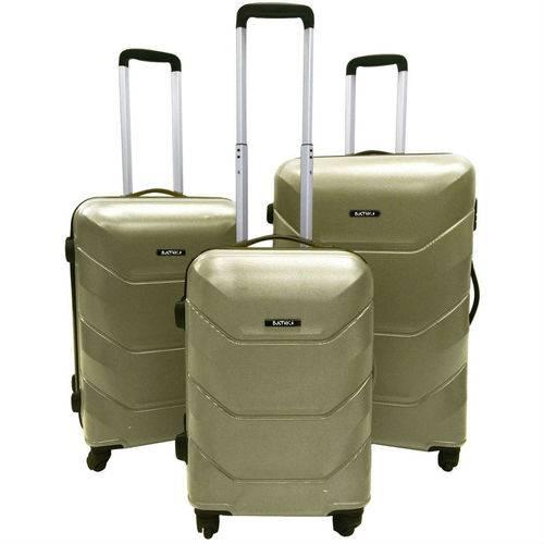 Conjunto de 3 Malas em Abs Siena para Viagem Champanhe