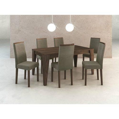 Conjunto de Mesa Cj1001 com 6 Cadeiras Tecnomobili