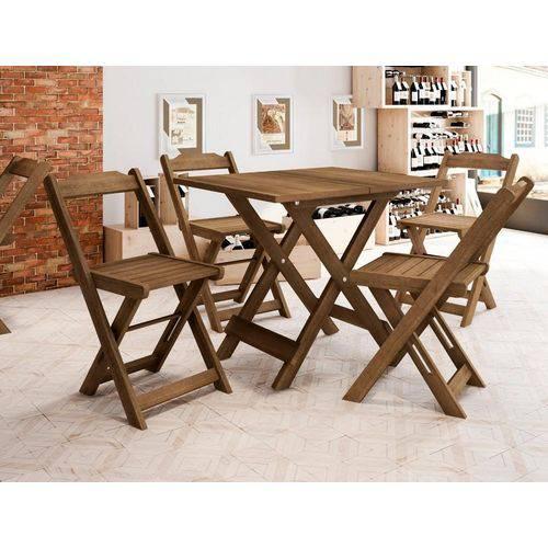 Conjunto de Mesa com 4 Cadeiras Ambar Naturale