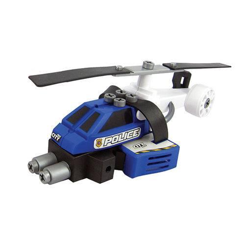Conjunto de Montagem - Meu Pequeno Engenheiro - Garagem S.a - Helicóptero de Polícia - Candide