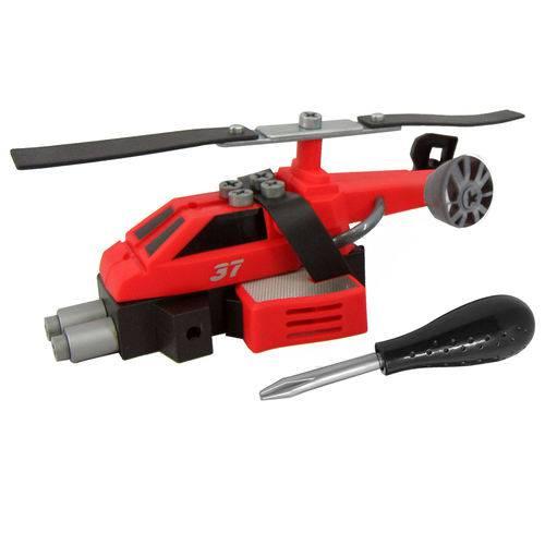 Conjunto de Montagem - Meu Pequeno Engenheiro - Garagem S.a - Helicóptero de Resgate - Candide