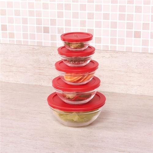 Conjunto de Potes 5 Peças Euro Home Vermelho Vermelho