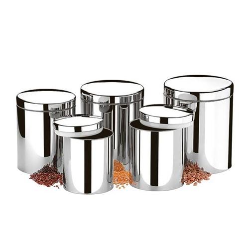 Conjunto de Potes com Tampa para Mantimentos 5 Peças Brinox