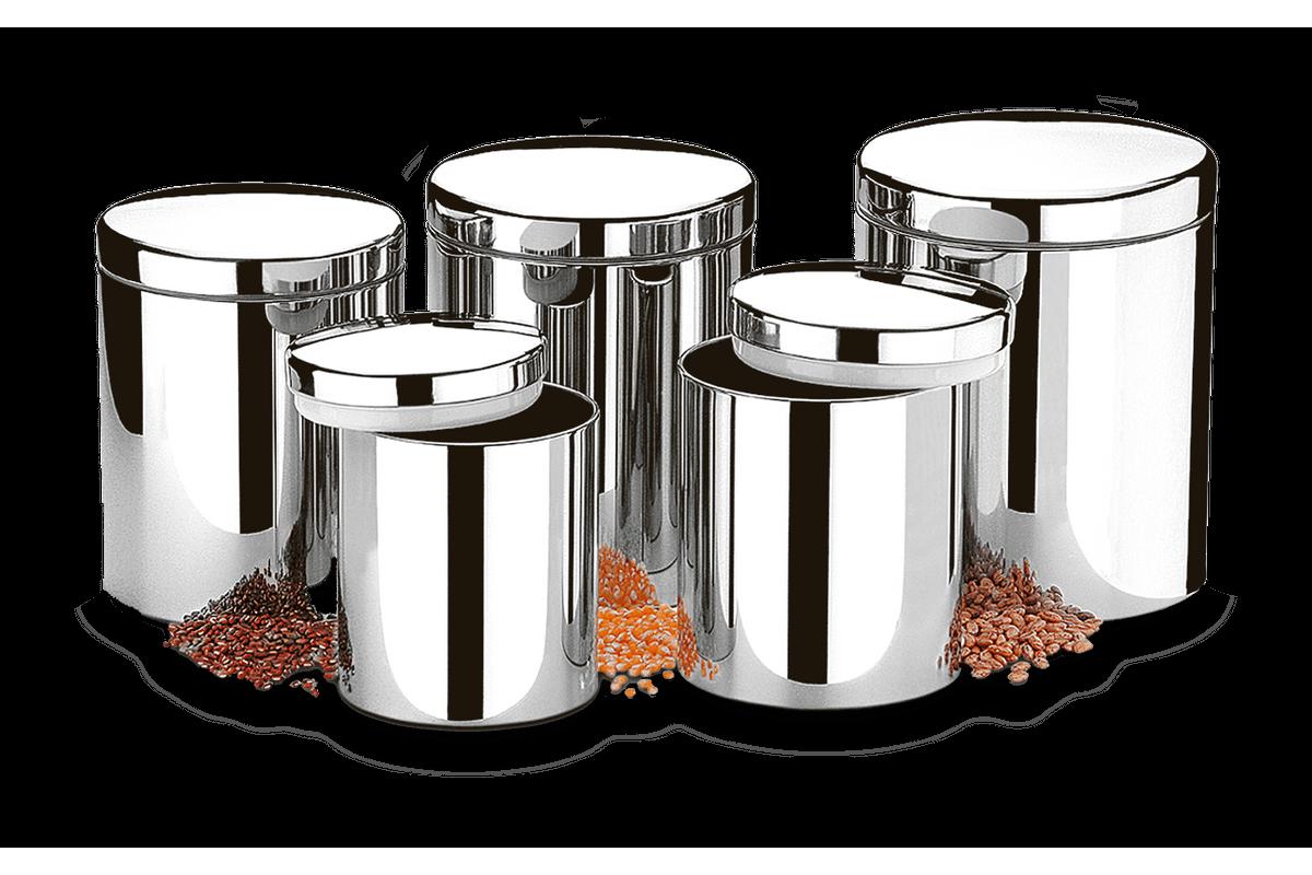Conjunto de Potes para Mantimentos com Tampa 5 Peças - Suprema