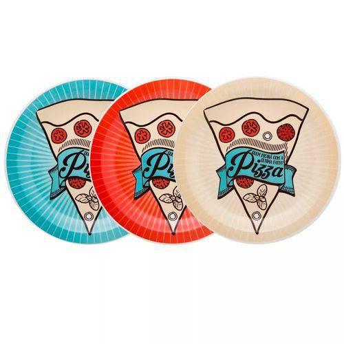 Conjunto de Pratos para Pizza Porcelana 26 Cm – Oxford