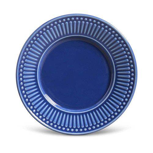 Conjunto de Pratos para Sobremesa Roma Azul Navy - 6 Peças - em Cerâmica - La Tavola - Porto Brasi
