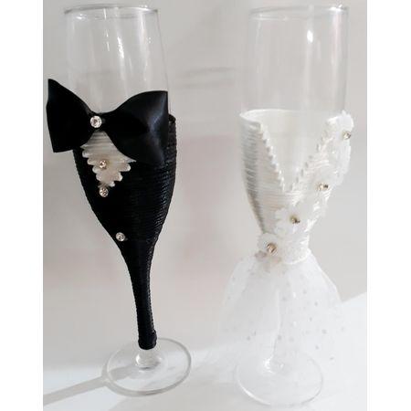 Conjunto de Taças Noivo e Noiva