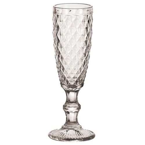 Conjunto de Taças para Champagne 6 Peças Bico de Abacaxi de Vidro Sodo-Calcico Transparente 140ml 6X19,7X7 Cm
